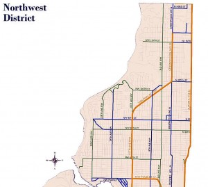 Snow Routes in Broadview 2010