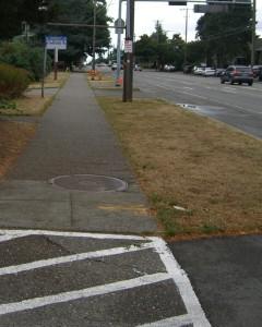 sidewalks in front of school only