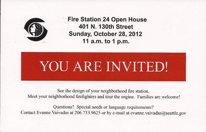 Fire station open house october 28 fire station 24 is holding an open house on sunday october 28 from 11 am to 1 pm below is the invitation for a larger view of it click on the image stopboris Image collections