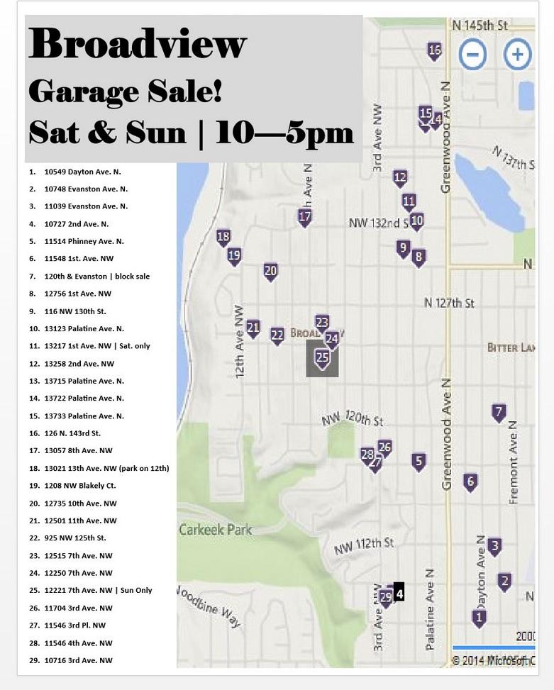 Broadview Garage Sale map-2